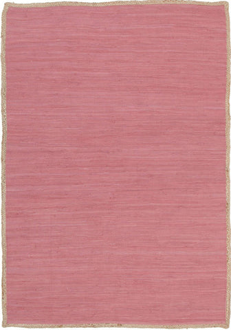Reno Cotton and Jute Rug Pink