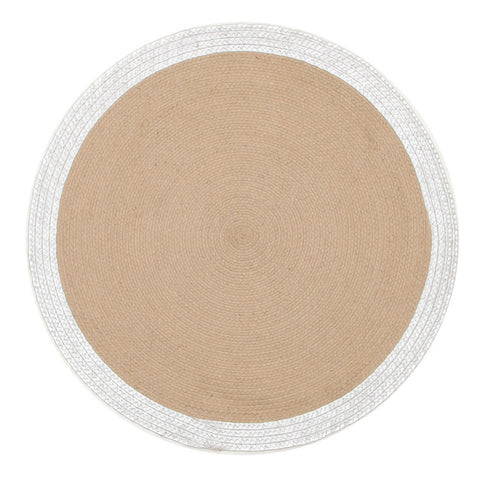 Milano Metallic Silver and Natural Jute Rug