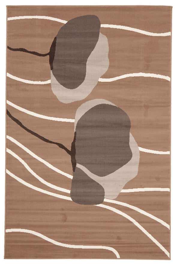 Poppies Modern Rug Beige