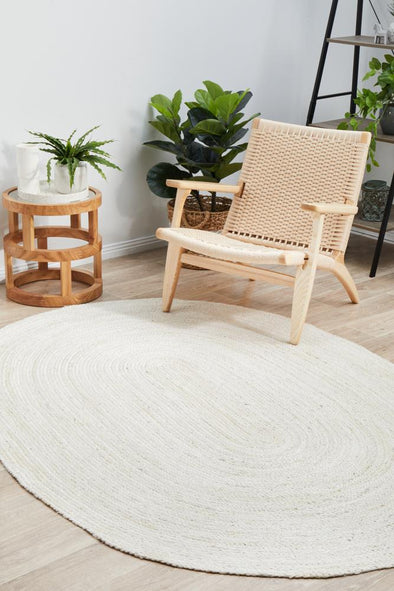 Coogee White Oval Rug