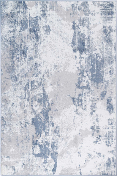 Ermina Modern Abstract Blue Rug