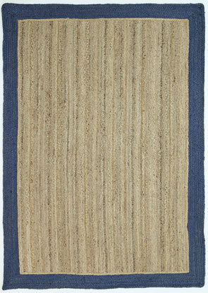Hampton Navy Border Jute Rug