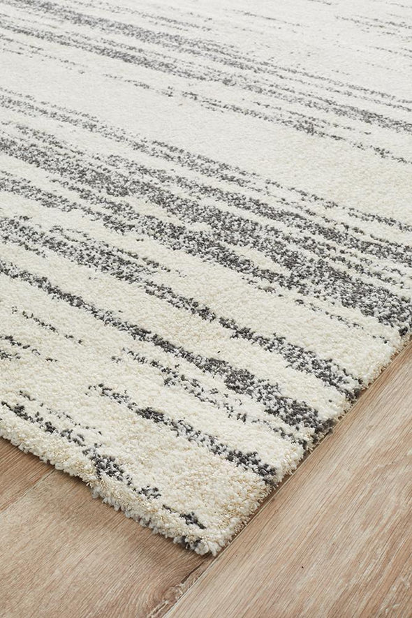 Broadway Evelyn Contemporary Charcoal Rug
