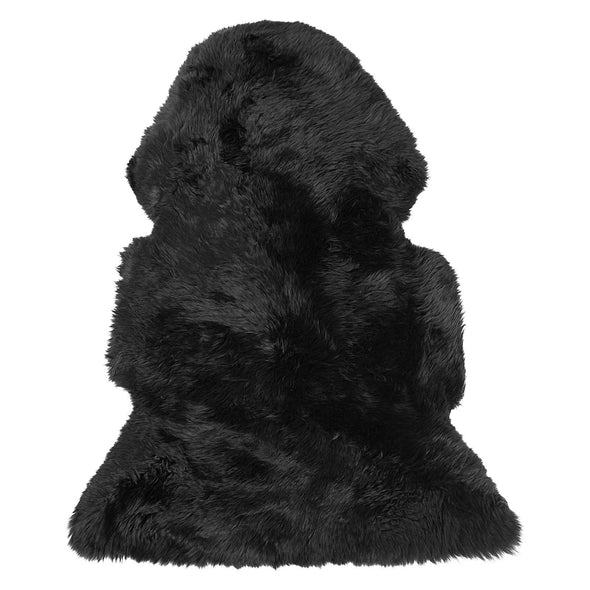 Cowhide Black Sheepskin