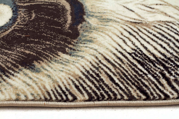 Whimsical Feathers Rug Bone