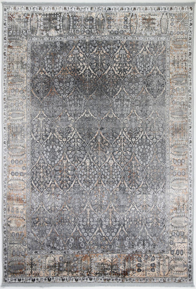 Silk Treasures Grey Rug