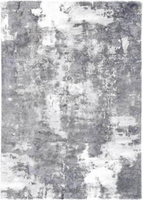 Yuzil Grey White Abstract Rug