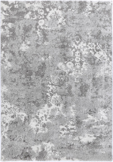 Yuzil Grey Transitional Floral Rug