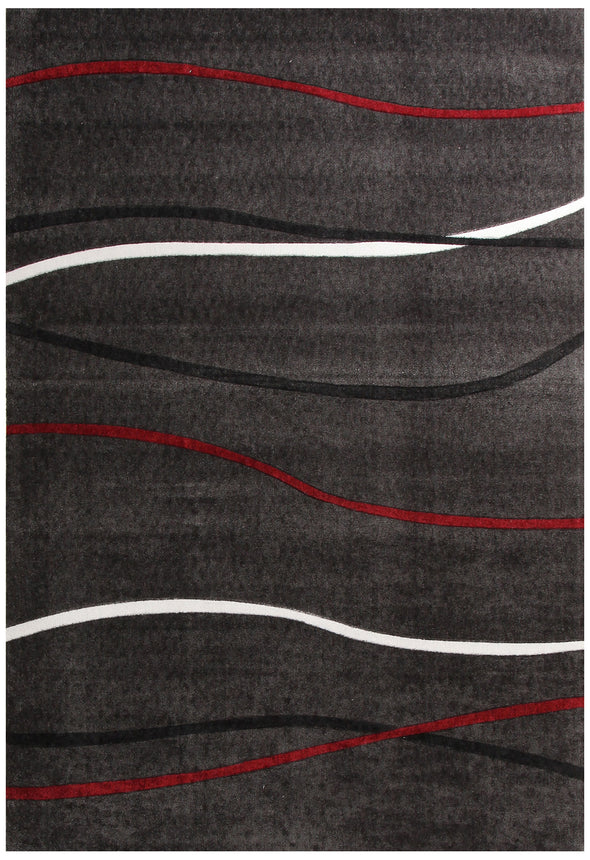 Plain Stripe Rug Charcoal