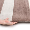 City Stylish Stripe Rug Brown Beige