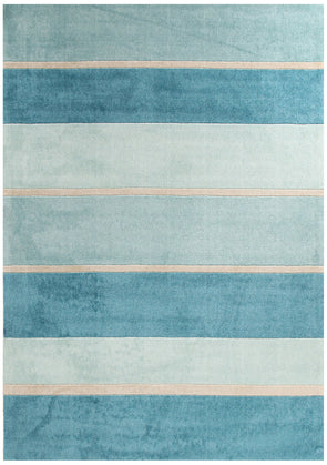 Modern Blue Bands Rug