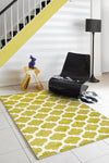 City Trellis Stylish Design Rug Green