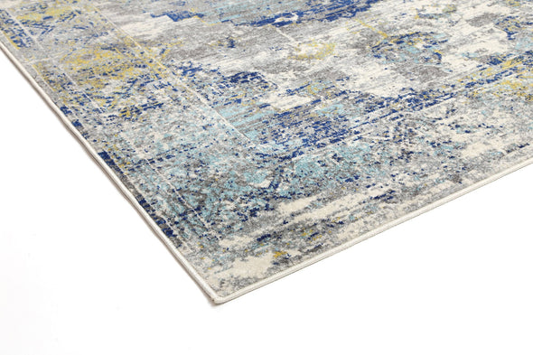 Provance  Blue Green Distressed Medallion Rug