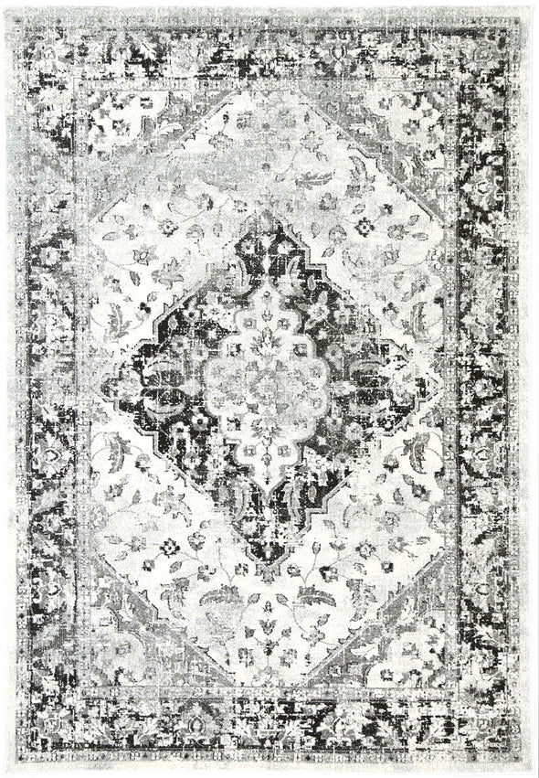 Provance  Grey Distressed Traditional Rug