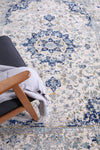 Provance  Navy Blue Traditional Rug