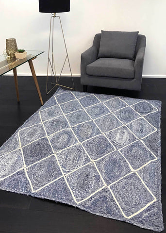 Artisan Natural Diamond Denim Rug