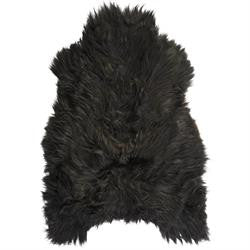 Icelandic Sheepskin Rug - Dark Brown/Black