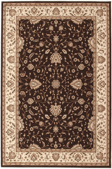 Stunning Formal Classic Design Rug Brown