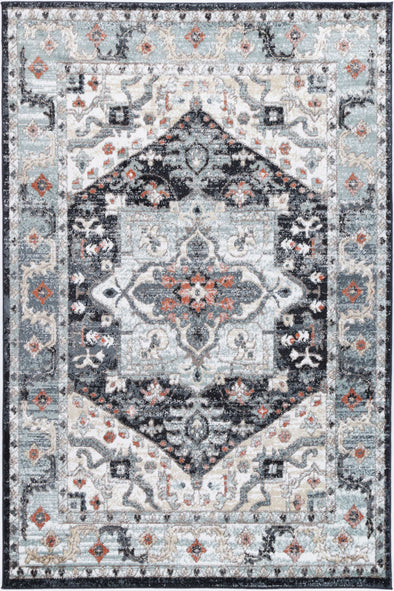 Anatolia Traditional Blue Charcoal Rug