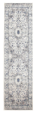 Mist White Transitional Runner