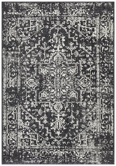 Evoke Scape Charcoal Transitional Rug