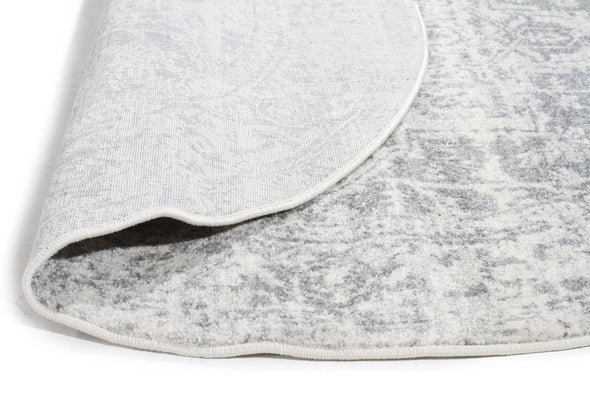 Dream White Silver Transitional Rug