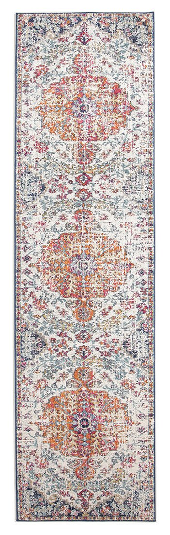 Evoke Carnival White Transitional Runner