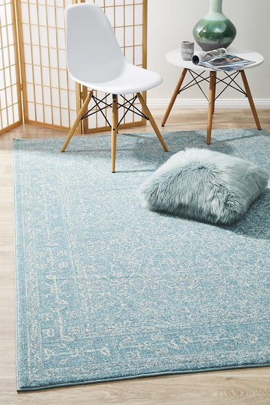 Evoke Depth Blue Transitional Rug