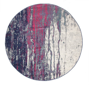 Bedrock Stone Transitional Round Rug