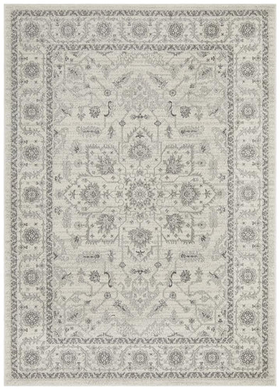 Evoke Winter White Transitional Rug