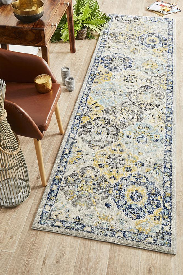 Evoke Poppy Multi Transitional Runner Rug