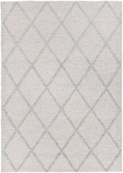 Kochi Diamond Braided Grey Rug