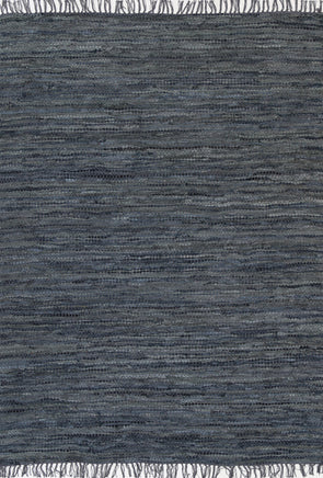 Metro Modern Grey Leather Rug