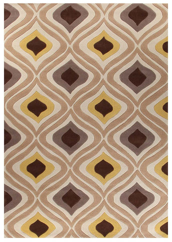 Stunning Oil Lamp Yellow Rug