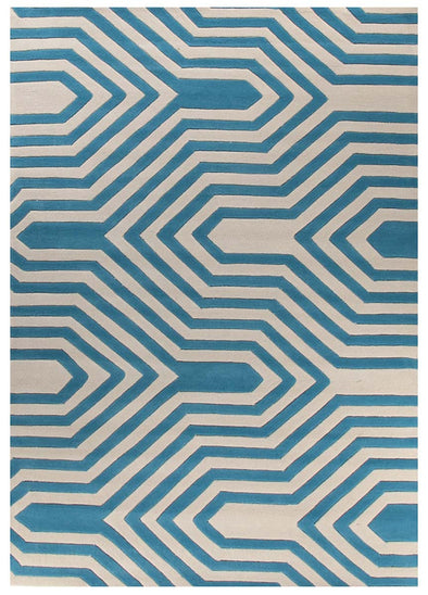 Circuit Board Blue Rug