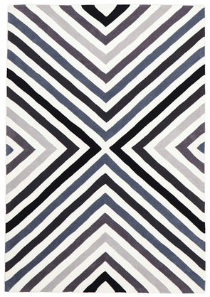 Cross Roads Design Rug Charcoal Grey