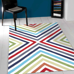 Cross Roads Design Rug Multi