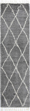 Kasbah Clara Diamond Tribal Grey Runner  Rug