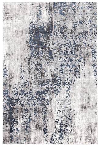 Casper Distressed Modern Rug Blue Grey White
