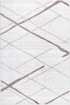 Paisley Abstract Stripe Latte Rug