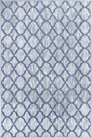 Paisley Lattice Blue Rug