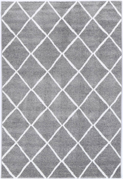 Paisley Diamond Grey Rug