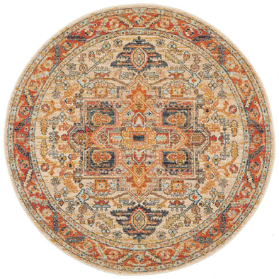 Legacy 850 Rust Round Rug