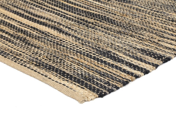 Malmo Stipe Natural Jute Rug Grey