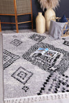 Micha Grey Boho Tribal Rug