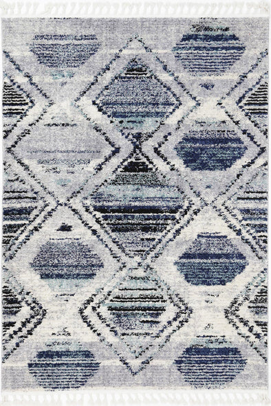 Micha Navy Blue Diamond Tribal Rug