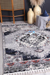 Micha Grey Blue Boho Rug
