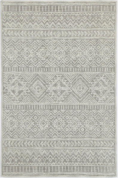 Mila Tribal Light Grey Rug