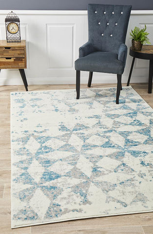 Vanessa Modern Rug Blue Grey White