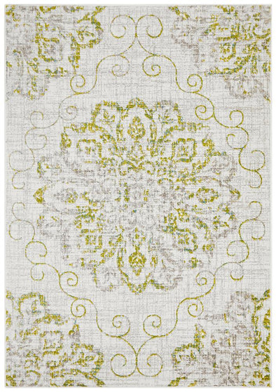 Giselle Transitional Green Grey Rug